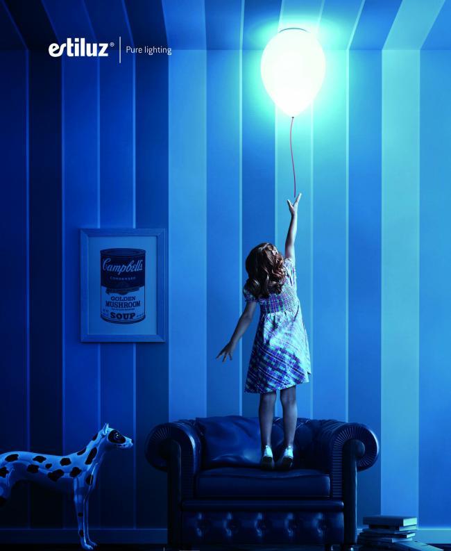 lámpara colgante infantil balloon de estiluz